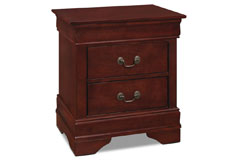 Lyla Nightstand – Cherry - Click for more details