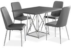 Marco 5-Piece Dining Package – Grey - Click for more details