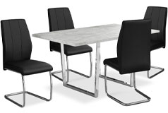Luca 5-Piece Dining Package – Black
