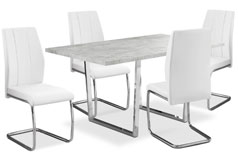 Luca 5-Piece Dining Package – White