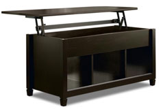 Edge Water Coffee Table with Lift Top – Estate Black