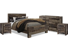 Derekson 6-Piece Queen Bedroom Package with Dresser and Two Nightstands - Click for more details