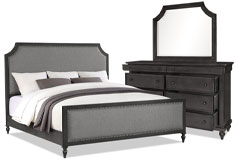 Brussels 5-Piece Queen Bedroom Package – Grey
