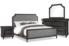Brussels 6-Piece Queen Bedroom Package – Grey