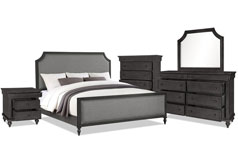Brussels 7-Piece Queen Bedroom Package – Grey - Click for more details