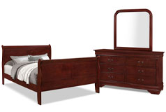 Lyla 5-Piece King Bedroom Package – Cherry - Click for more details