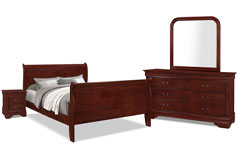 Lyla 6-Piece King Bedroom Package – Cherry