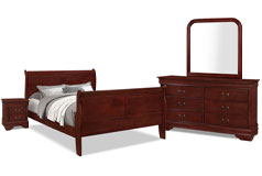 Lyla 6-Piece Queen Bedroom Package – Cherry - Click for more details