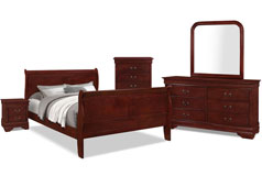 Lyla 7-Piece Queen Bedroom Package – Cherry - Click for more details
