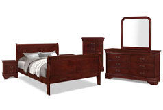 Lyla 8-Piece Queen Bedroom Package – Cherry - Click for more details