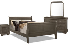 Lyla 6-Piece Full Bedroom Package – Grey - Click for more details