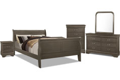 Lyla 8-Piece Full Bedroom Package – Grey - Click for more details