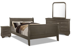 Lyla 6-Piece Queen Bedroom Package – Grey - Click for more details