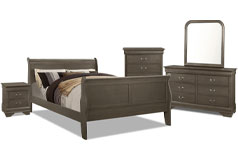 Lyla 7-Piece Queen Bedroom Package – Grey - Click for more details