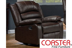 Denison Genuine Leather Reclining Chair  - Click for more details
