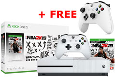 Xbox One S 1TB NBA 2K19 Bundle with Free Controller