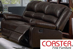 Denison Genuine Leather Reclining Sofa - Click for more details