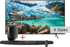 "Samsung 58"" 4K UHD Smart TV & Polk Command Bar Sound Bar with Alexa Built-in Bundle"