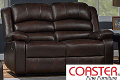Denison Genuine Leather Reclining Loveseat - Click for more details