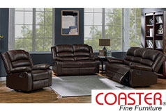 Denison Genuine Leather Reclining Living Room Set: Sofa, Love Seat, Chair - Click for more details