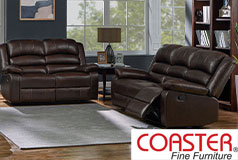 Denison Genuine Leather Reclining Living Room Set: Sofa, Loveseat - Click for more details