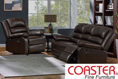 Denison Genuine Leather Reclining Living Room Set: Sofa, Chair - Click for more details