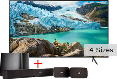 "Samsung 55"" 4K Smart TV RU7100 & Polk 5.1-Channel System Bundle"
