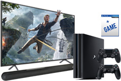 "Samsung 58"" Smart 4K UHD RU7100 TV, PS4 Pro & Polk Signa Solo Soundbar Bundle - Click for more details"