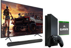 "Samsung 58"" Smart 4K UHD RU7100 TV, Xbox One X & Polk Signa Solo Soundbar Bundle  - Click for more details"