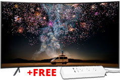 "Samsung 65"" 4K Curved TV & FREE Eco4life Surge Strip"