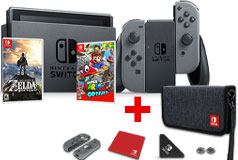Nintendo Switch (Super Mario/Zelda) Bundle - Click for more details
