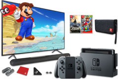 "Samsung 58"" Smart 4K UHD RU7100 TV, Nintendo Switch & Polk Signa Solo Soundbar Bundle - Click for more details"