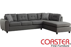 Stonenesse Reversible Sectional in Grey - Click for more details