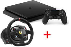 PlayStation 4 Slim + Thrustmaster T300 Steering Wheel Bundle - Click for more details