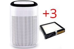 JS Vanguard 2-in-1 Air Purifier & Dehumidifier + 3 Replacement Filters - Click for more details
