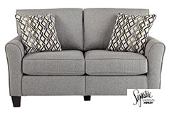 Ashley Strehela Loveseat in Silver - Click for more details