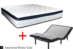 "Sleep Rest 13"" Comfort-Top Plush Queen Mattress & Good Queen Lifestyle Adjustable Frame - Click for more details"