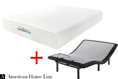 "Comfort Gel 10"" Queen Mattress & Good Queen Lifestyle Adjustable Frame - Click for more details"