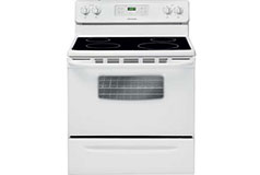 Frigidaire 5.3 Cu. Ft. Self-Clean Smooth-Top Range in White - Click for more details