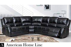 Lorraine Bel-Aire Ebony Right Facing Reclining Sectional - Click for more details