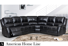 Lorraine Bel-Aire Ebony Left Facing Reclining Sectional - Click for more details