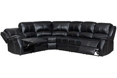 Lorraine Ebony Right Facing Reclining Sectional - Click for more details