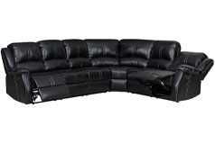 Lorraine Ebony Left Facing Reclining Sectional - Click for more details