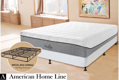 "The Supreme Hybrid 13"" Full 2in1 Set  Foam & Pocket Coil Mattress  Hypoallergenic Bamboo - Click for more details"