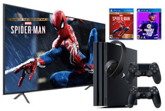 "Samsung 58"" Smart 4K UHD RU7100 TV & PS4 Pro NHL20/Spiderman GOTY Bundle - Click for more details"