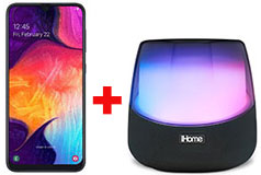 Samsung Galaxy A50 & iHome Rechargeable Color Changing Stereo Speaker - Click for more details