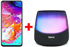 Samsung Galaxy A70 & iHome Rechargeable Color Changing Stereo Speaker - Click for more details