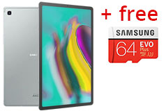 "Samsung S5e 10.5"" Galaxy Tab 128GB Storage - Silver + FREE Samsung 64GB MicroSD - Click for more details"