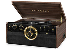 Victrola 6-in-1 Wood Bluetooth Mid Century Record Player - Click for more details