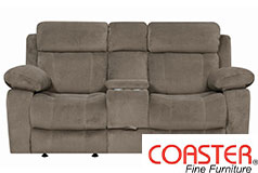 Myleene Glider Loveseat in Mocha - Click for more details